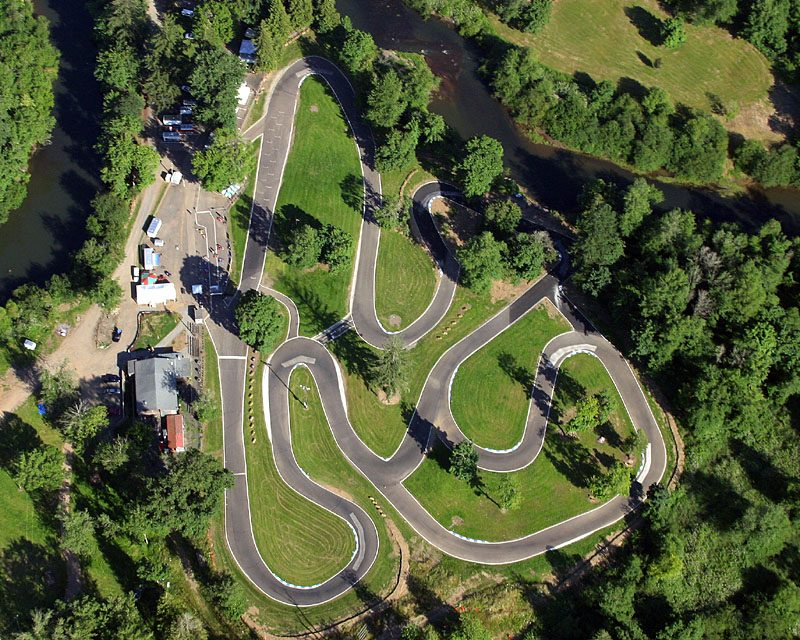 Aerial view of the PARC track